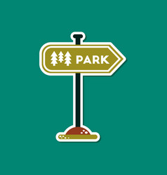 Paper sticker on stylish background park sign vector
