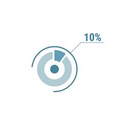 Percentage diagram graph 10 ten percent circle vector