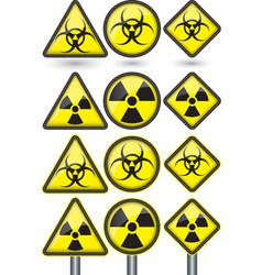 Radiation sign radiation symbol set vector