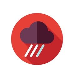 Rain Cloud flat icon Downpour rainfall Weather vector