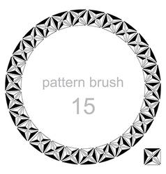 Round pattern decor frame vector