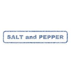 Salt and pepper textile stamp vector