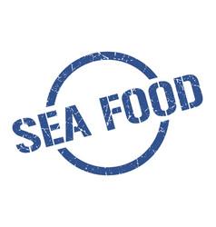 sea food stamp vector image