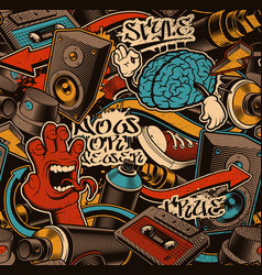 Seamless graffiti background vector
