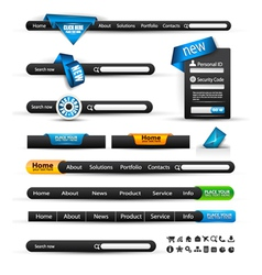 Search banners vector