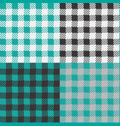 Set 4 gingham vichy patterns for picnic vector