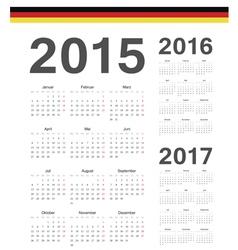 Set of German 2015 2016 2017 year calendars vector