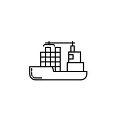 ship signs and symbols can be used for web logo vector image