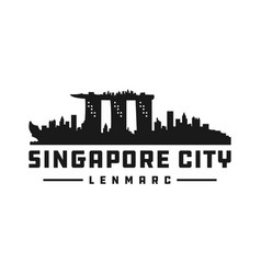 singapore city silhouette logo vector image