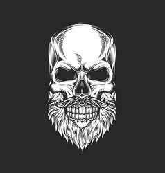 Skull and beard vector