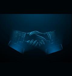 smartphone screen businessmen shake hands vector image