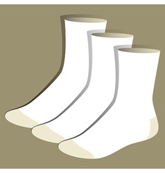 Socks template vector image