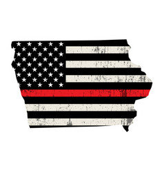 state iowa firefighter support flag vector image