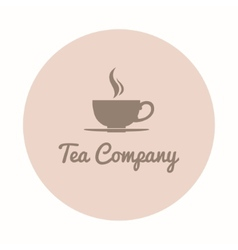Teacup company logo vector