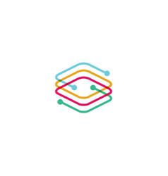 tech abstract logo icon vector image