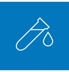 Test tube with drop line icon vector image