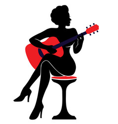 the silhouette of a woman with a vector image