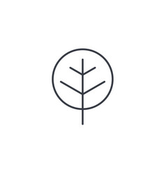 tree thin line icon linear symbol vector image