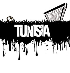Tunisia with a soccer ball and gate vector