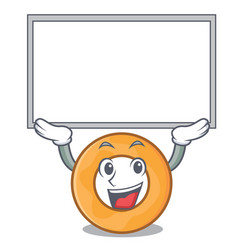Up board onion ring character cartoon vector