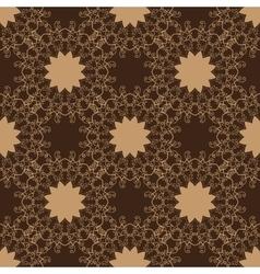 Vintage seamless pattern Hand drawn vector image