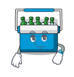 Waiting freezer bag mascot cartoon vector