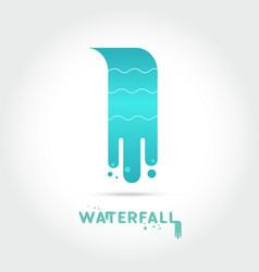 Waterfall logo design vector