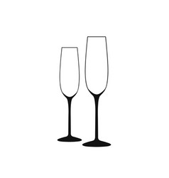 wine glass of wine glass a long empty vector image