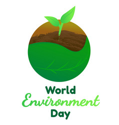 world environment day flat graphic for vector image