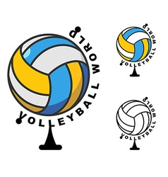 World volleyball Globe ball game Sports accessory vector image