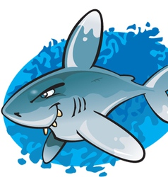 Cartoon Oceanic white tip shark vector image vector image