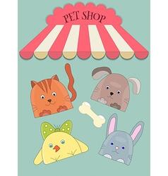 Cute pet shope vector image