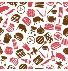 hamburger theme modern simple icons seamless color vector image vector image