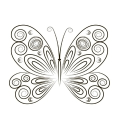 Hand Drawn Butterfly isolated vector image vector image