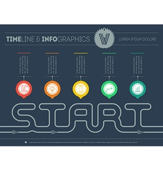 How to start your own business Infographic vector image