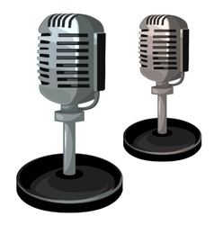 Professional metal microphone on stand vector image