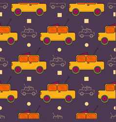 seamless surface pattern with children cars vector image