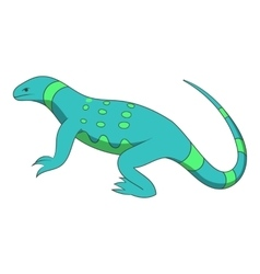 Blue lizard icon cartoon style vector image vector image