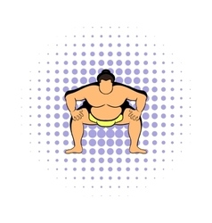 Sumo wrestler icon comics style vector image vector image
