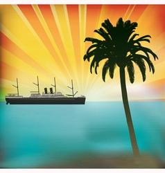 Vintage Sea Cruise vector image