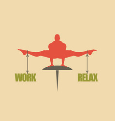 Work and relax balance concept of the scales vector