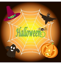 background for halloween vector image vector image