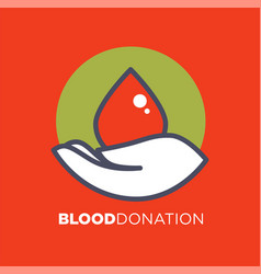 blood donation agitative poster to encourage for vector image vector image