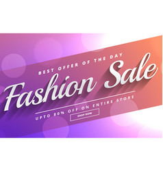 fashion sale and discount voucher template design vector image