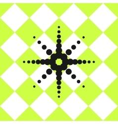 Floor ceramic tiles pattern green with black star vector