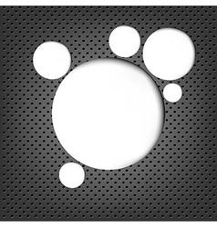 Grey Metal Background With Web Speech Bubble vector image vector image