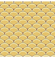 Seamless retro background in modern ikat pattern vector image vector image