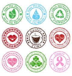 set of grunge stamps vector image vector image