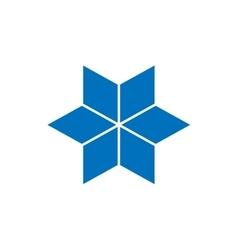 Star logo concept Flat vector image vector image