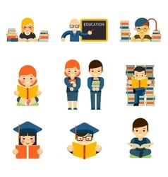 Students and children study in class room vector image vector image